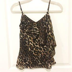 Express Cheetah Print Strappy Blouse NWOT